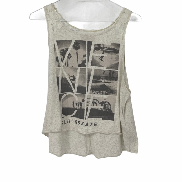 Hollister Venice Beach graphic cropped tank top